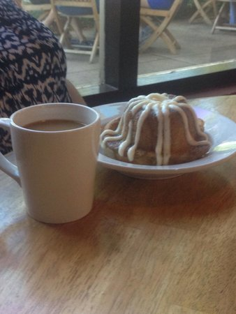 Island Lava Java: Pull Apart roll and a cup of estate grown Kona coffee.