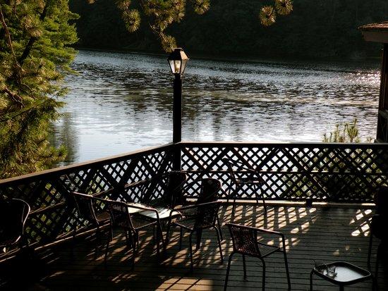 Ishnala Supper Club: A deck overlooking Mirror Lake