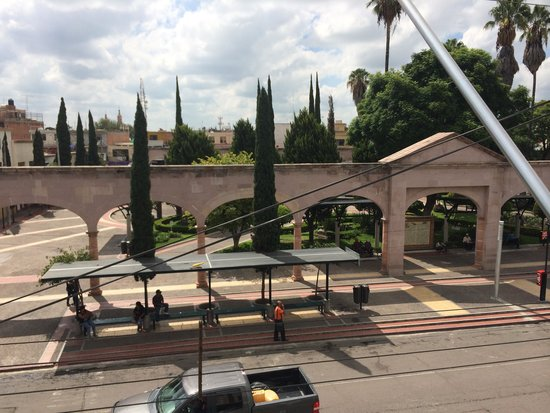 Hotel Gya Boutique: view from roof top of hotel, to plaza de Mariachi