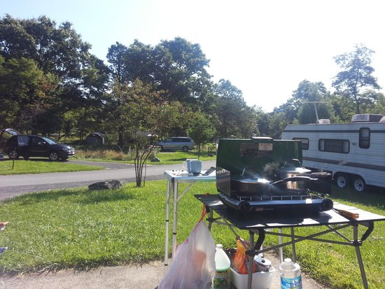 Big Meadows Campground: View from our pitch