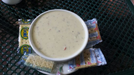 Landmark Cafe: Beer cheese and sausage soup