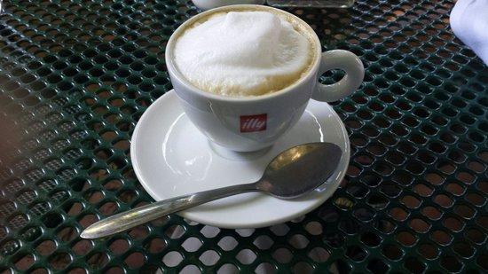 Landmark Cafe: Cappuccino with a kick :-)