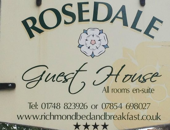 Rosedale Guest House: Guest House sign.