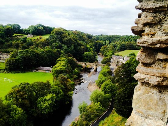 Rosedale Guest House: View from Richmond Castle