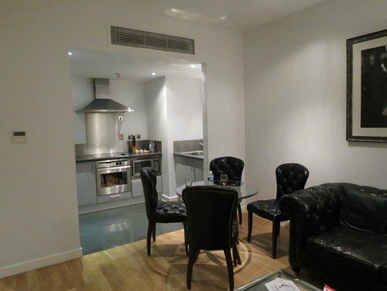 196 Bishopsgate : cuisine-salle à manger