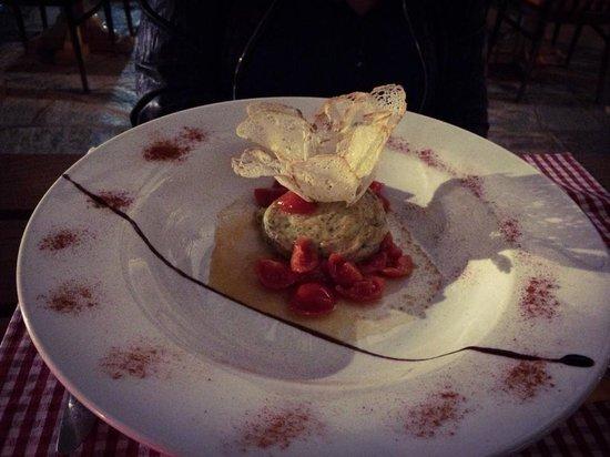 Ristorante La Meridiana: Flan di cozze, un'esplosione di gusto e delicatezza.