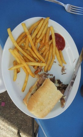 Chillicothe, IL: This is only half the brisket sandwich and fries