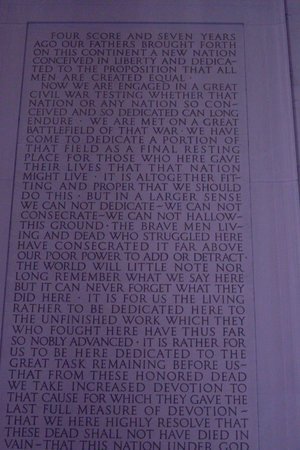 Lincoln Memorial: Four score & seven years...