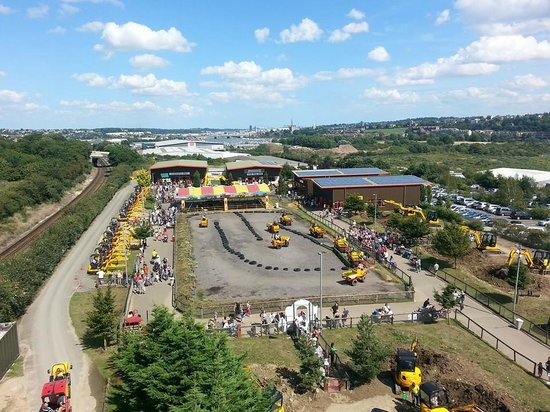 Strood, UK: Diggerland Overview From the Lift