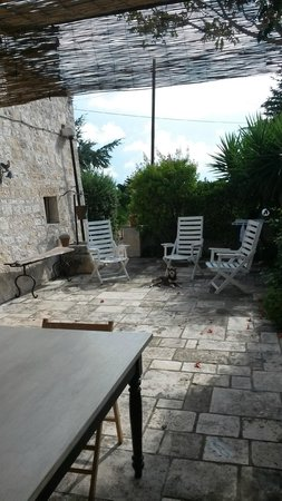 Trulli Colarossa Bed & Breakfast: View from our dining terrace