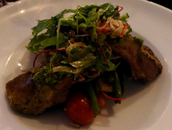 The Little Bistro : crusted lamb