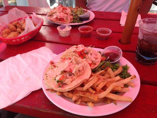 The Reel Inn: Fish tacos coastside at Reel Inn