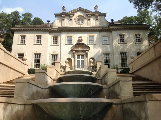 Atlanta History Center: Famous back view of the Swan House