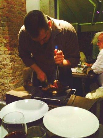 Muro Frari: Chateaubriand cut tableside