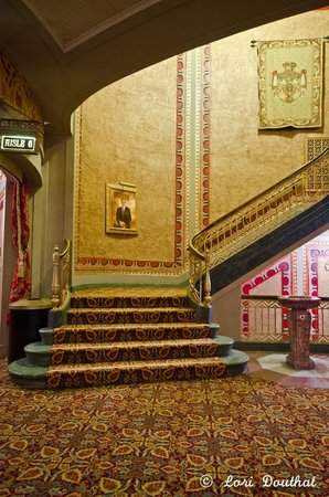 One of the many stairways at the Tennessee Theatre