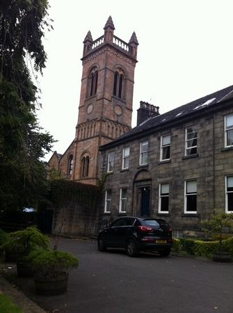Ashtree House Hotel: note the church tower next door that is useful in finding this place.
