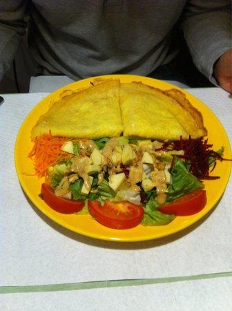 Galgala Vegetariano: Filloa de puerros.