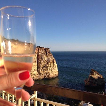 Tivoli Carvoeiro: Comemoração em alto estilo! Vista da varanda do hotel!