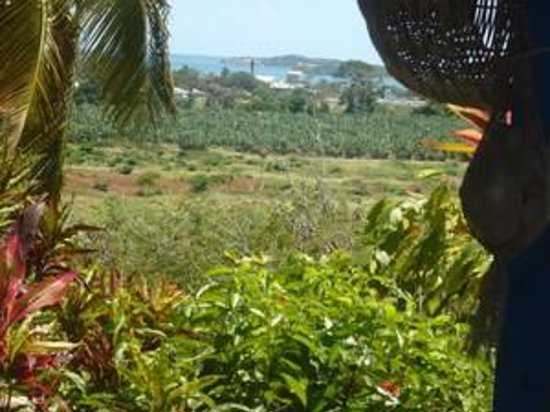 Le Vauclin, Martinique: les ilets vue de la veranda de Au village d'Antan francois