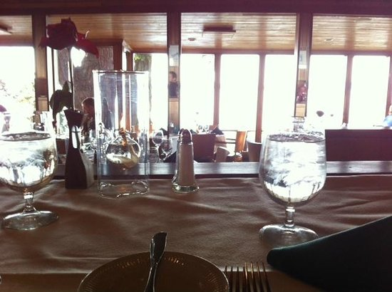 Oyster Bar on Chuckanut Drive: view of inside & table from upper table
