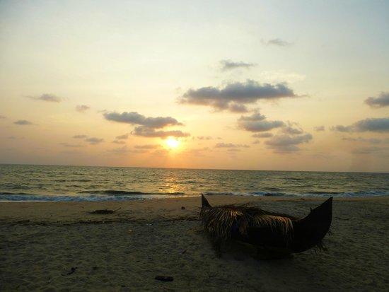 Marari Fishermen Village Beach Resort: Coucher de soleil
