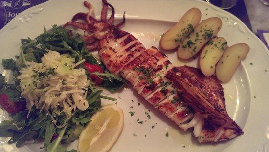 La Boussole Brassiere: grilled squid