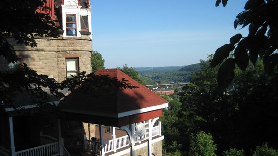 The Overlook Mansion : View of Little Falls from the archway