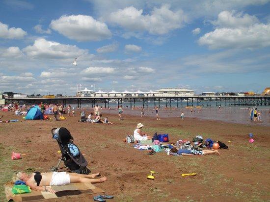 Paignton Pier: Beach at low tide