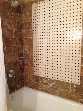 Kimpton Hotel Monaco Baltimore Inner Harbor : Surprise step in shower