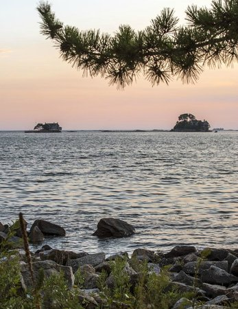 Thimble Islands Bed & Breakfast: Sunset