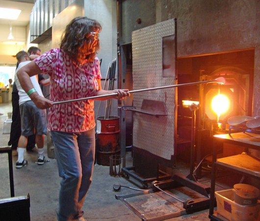 Seattle Glassblowing Studio: A Very Hot Furnace!