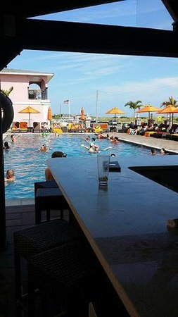 Ocean Club Hotel: View from the tiki bar