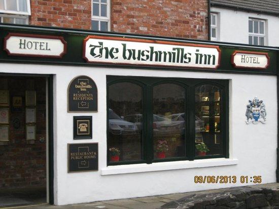 The Bushmills Inn Restaurant: Signage over the main office