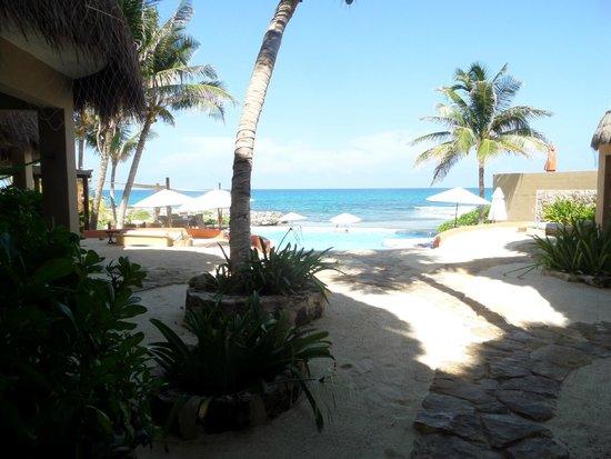 Playa La Media Luna Hotel: view from outside  room
