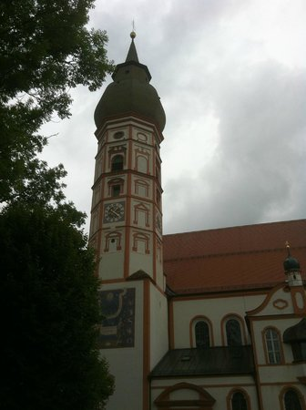 Andechs Monastery: church at the top