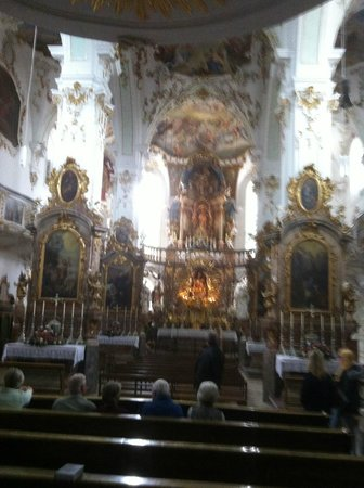 Andechs Monastery: inside the church