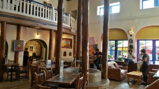 The Historic Taos Inn: interior lobby