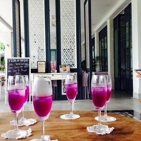 Devasom Hua Hin Resort: น้ำอัญชัน