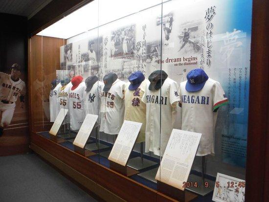 Matsui Hideki Baseball Museum: 栄光のユニホーム