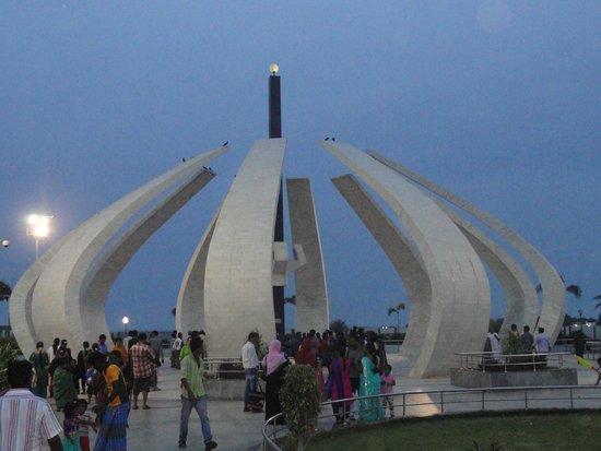MGR memorial at marina beach chennai tamil nadu