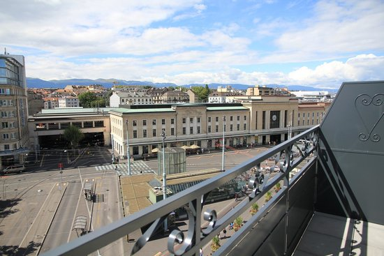 view towards train station