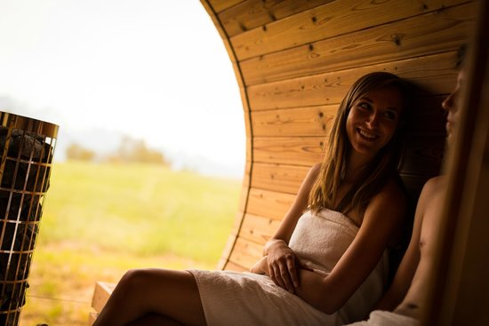 Maya Boutique Hotel : The sauna with the panoramic window