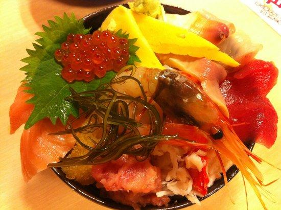 Donburichaya (Sapporo Shin-Nijoichiba): seafood rice