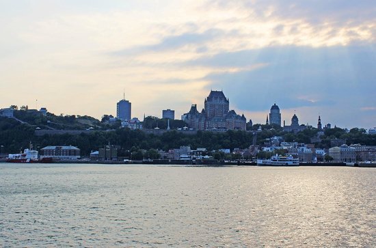 Quebec - Levis Ferry : View of Old Quebec from the ferry