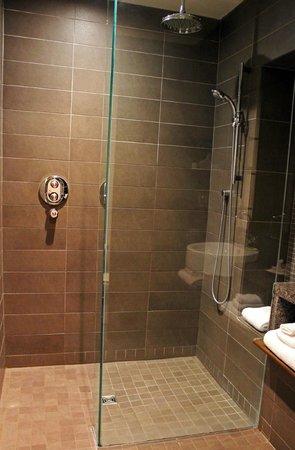 Hôtel 71 : The bathroom was amazing with a rainfall showerhead!