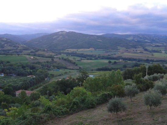 Il Borgo Sulla Collina B&B: panorama da camera