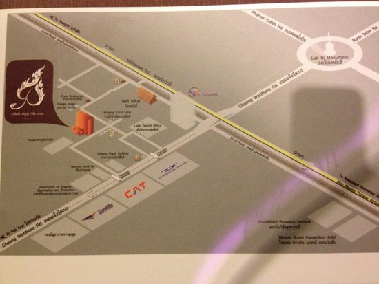 Mida Hotel Don Mueang Airport Bangkok : Take map/directions for taxi drivers