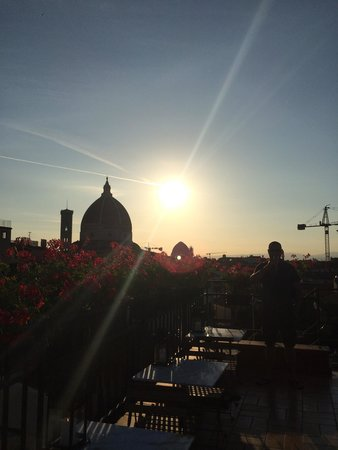 Hotel Cardinal of Florence: Beautiful sunset from roof top