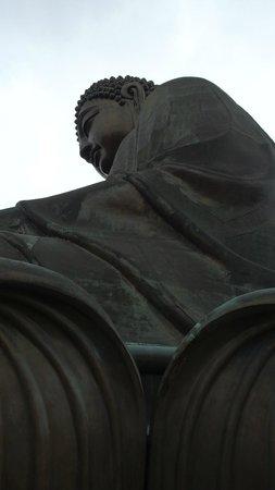 Lantau Island : Side view of the Buddha statue