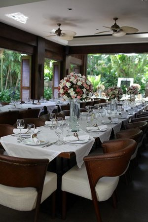 Abaca Boutique Resort : Restaurant Layout for wedding reception